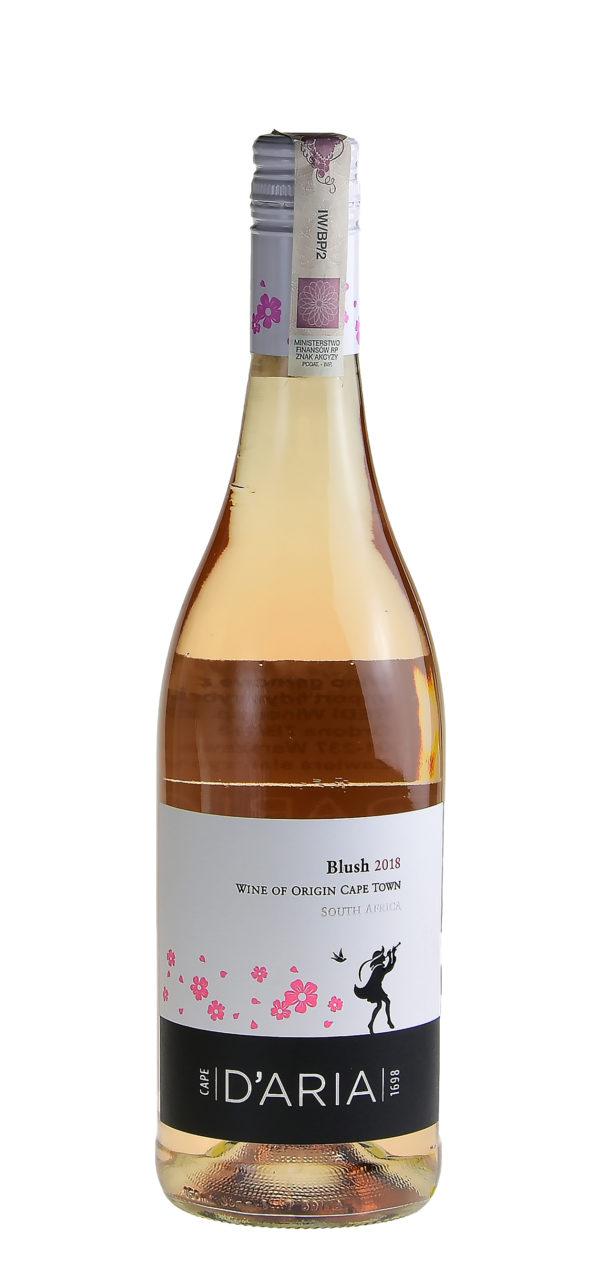 butelka - różowe wino blush
